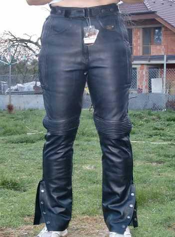 31281c22b2a Nové kožené kalhoty